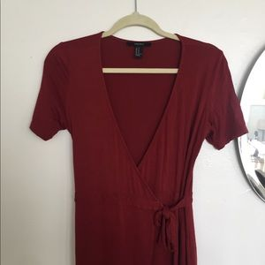 Forever 21 Burgundy Wrap Dress